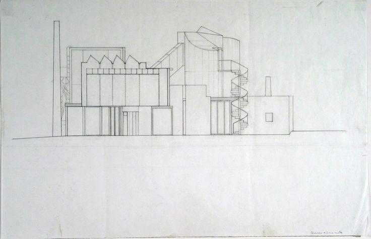 Jesse Reiser, Nanako Umemoto. Aktion Poliphile: Hypnerotomachia Ero/machia/hypniahouse, project, Wiesbaden, Germany, West elevation. 1989