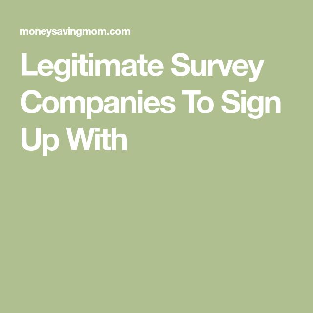 Legitimate Survey Companies To Sign Up With