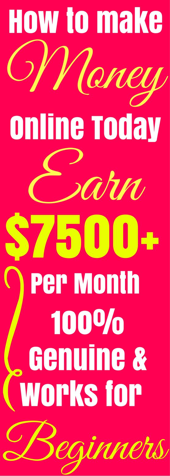 Make money online in 2017. The best ways to earn passive income online from home. Work from home and earn $7500+ per month with genuine methods which work for beginners. Click the pin to see how >>>