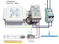 Esquemas eléctricos: Conexión de balastro 600w