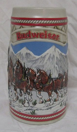 vintage 1985 Budweiser Stein at thehappyma on Etsy