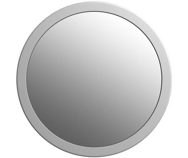 700mm Round Mirror Matte Finish Stone Edge