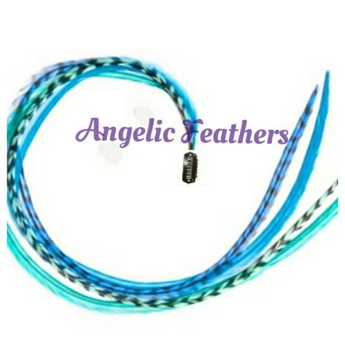 Buy FEATHER CLIP INS - BLUE MOON for R105.00