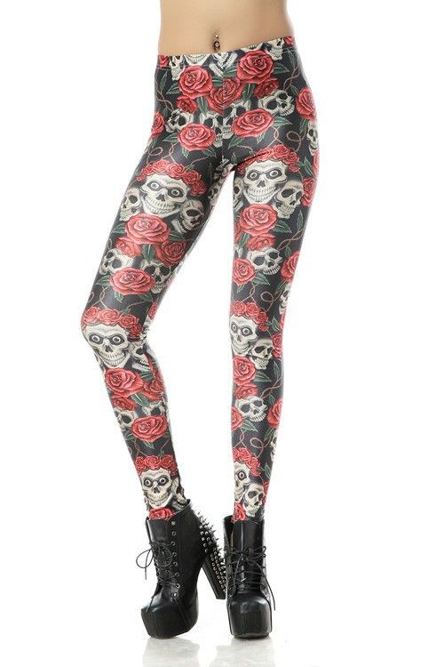 SEXY LADY GALAXY LEGGINGS PRINTED COSMIC SPACE PANTS TIE DYE TIGHTS NEW VINTAGE FASHION RED ROSE CROWN SKULL DIGITAL PRINTING SEXY LEGGINGS FOR WOMEN