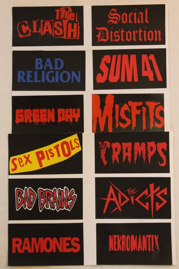 """HandMade Band Stickers from Punk Rock, Ska, Spanish Rock, Pop Rock Music Categories 2.8""""x5.5"""" OR 4.2""""x4.2"""" Buy 2 Get 1 Free"""