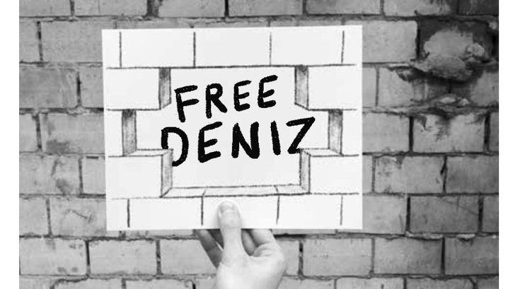 Freiheit für Deniz!  Für die Freiheit von Information, Meinung, Wort und Kunst. Gemeinsam für und mit Deniz Yücel und allen zur Zeit in der Türkei inhaftierten Kolleginnen und Kollegen.
