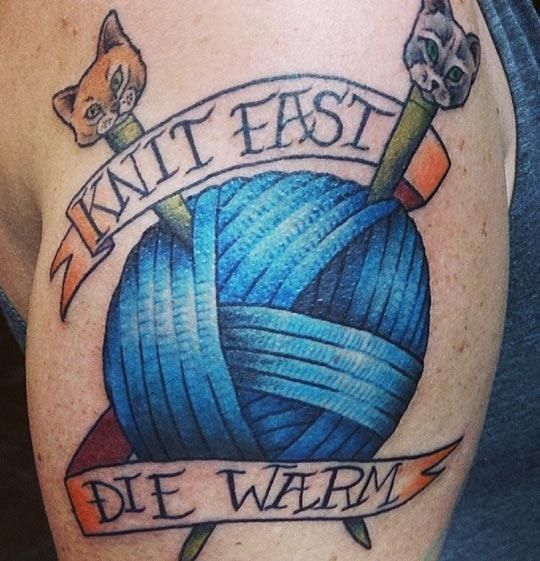 It�s dangerous as fuck.   11 Ways Knitting Is Actually Drugs