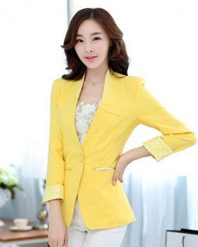 CW00656 Spring and autumn business suit a buckle coat for women