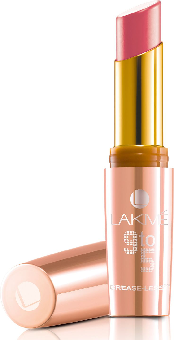 Lakme 9 to 5 Crease-less Lipstick 3.6 g(Coral Case) and pink