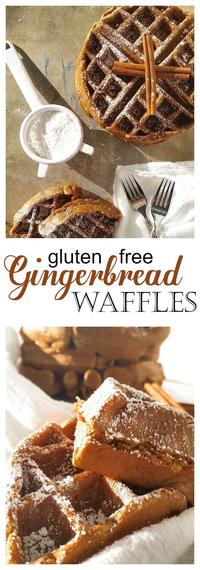 Gluten Free Gingerbread Waffles-Gingerbread cookies you can eat for breakfast!