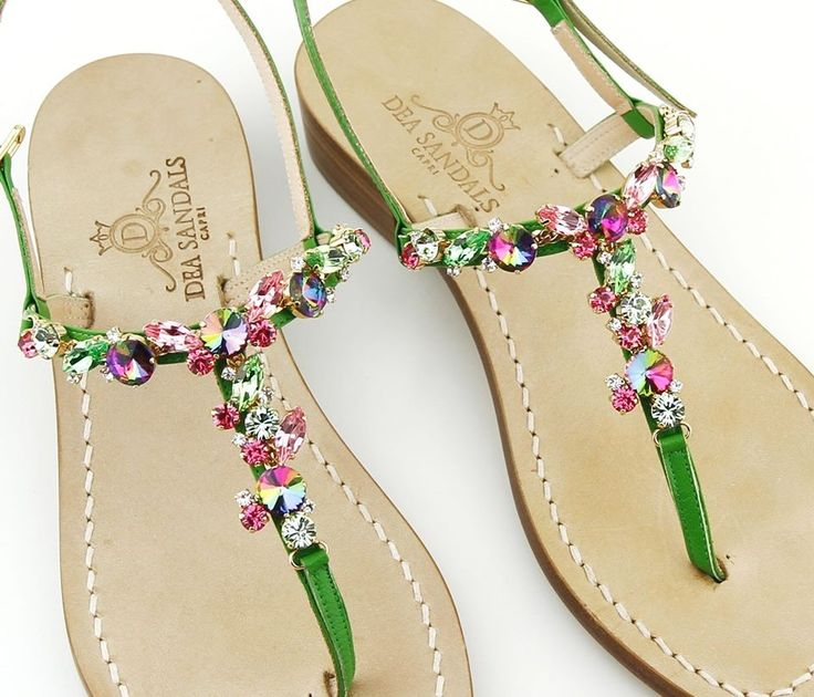 semplicemente unico....... sandals capri hand made jewel the classic must have