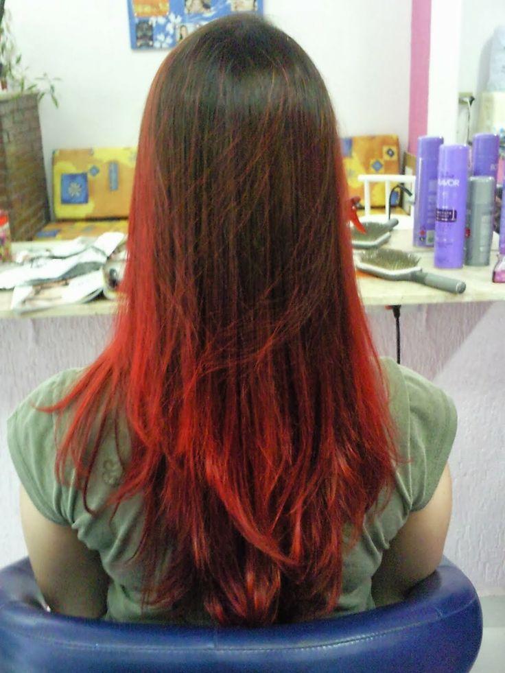 Tu tinte para el pelo: Mechas californianas rojas.