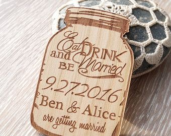 Wooden Save the Date Magnets Save the Date Magnets by esprint09
