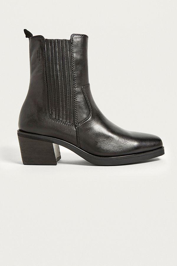 9447814f640 Slide View: 1: Vagabond Simone Black Leather Cowboy Boots   shopping ...