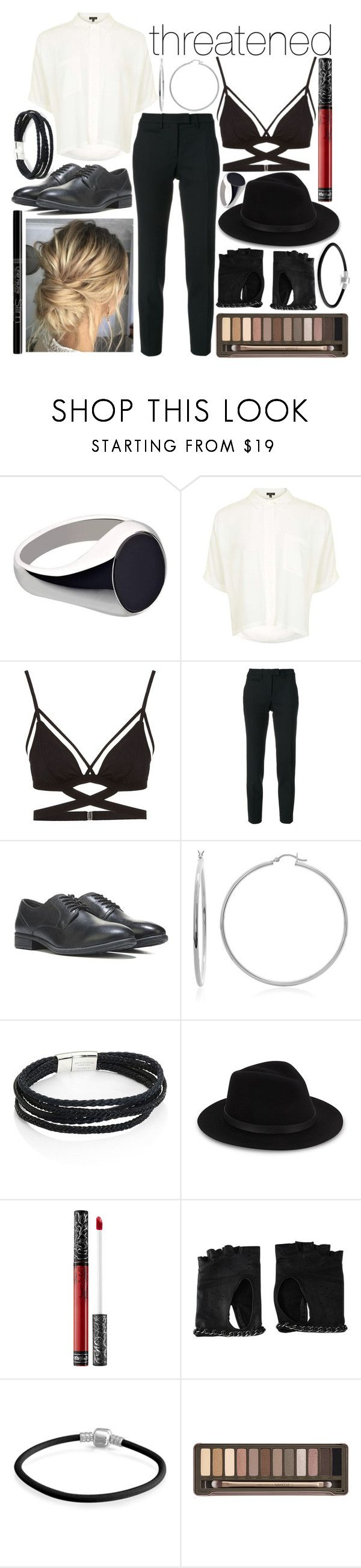 """""""Threatened"""" by leonorgomes on Polyvore featuring RenéSim, Topshop, Cosabella, Incotex, Sterling Essentials, Bourjois, Tateossian, Saks Fifth Avenue, Kat Von D and Chanel"""