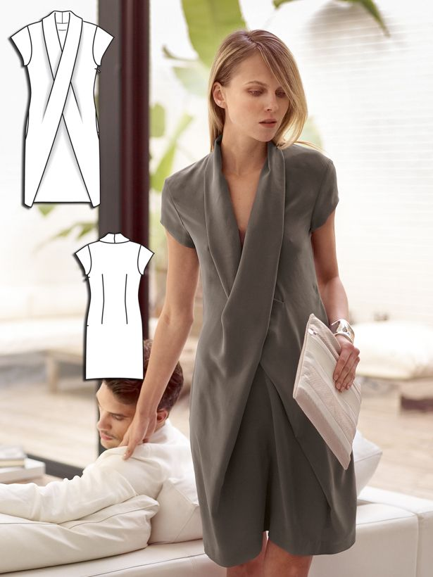 X Wrap Dress 04/2014 #106 http://www.burdastyle.com/pattern_store/patterns/x-wrap-dress-042014?utm_source=burdastyle&utm_medium=blog&utm_campaign=bsawblog032414-xwrapdresstxt