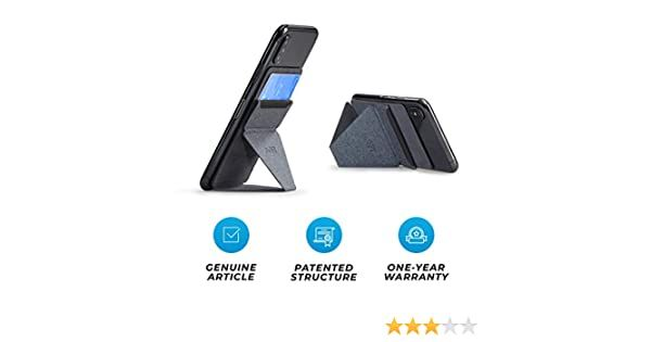 Car Phone Holder Car Mount Ultra-Light Phone Wallet MOFT X Phone Card Holder 4 in 1 Invisible and Foldaway Phone Stand-Starry Grey