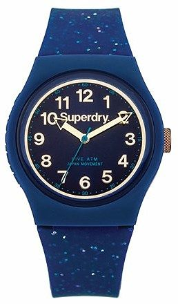 Womens air force blue superdry urban glitter strap watch from Lipsy - £29.99 at ClothingByColour.com