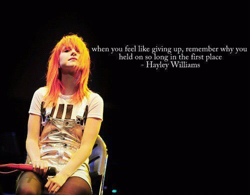 hayley, hayley williams, paramore, quote - image #348728 sur Favim.fr