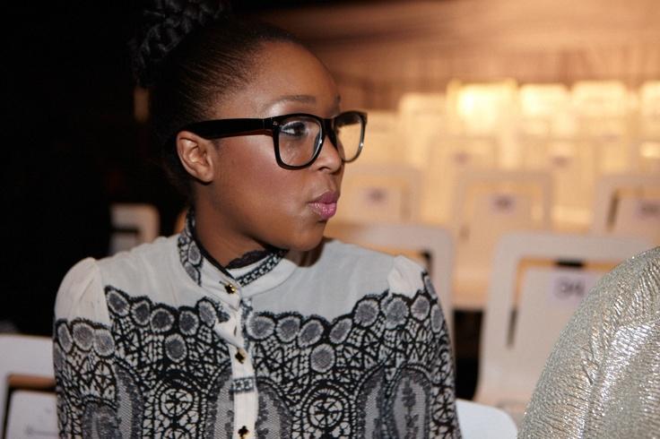 Minnie Dlamini at MB Fashion Week.