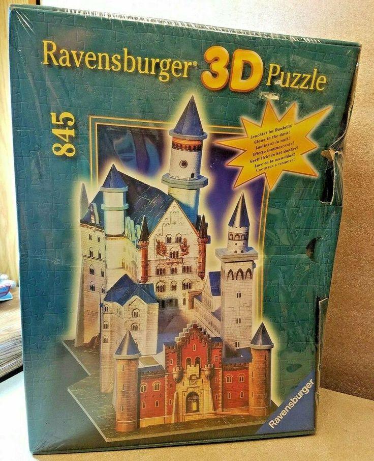 NEW 1998 Ravensburger 3D Glow in the Dark Neuschwanstein