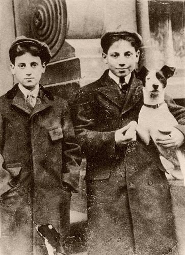 Groucho and Harpo, 1900 Two of the Marx Brothers.