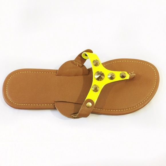 NEON SANDALS Very Cute Neon and Brown Sandals. Great condition, size:6.5. ❗️FIRM PRICE❗️ Shoes Sandals