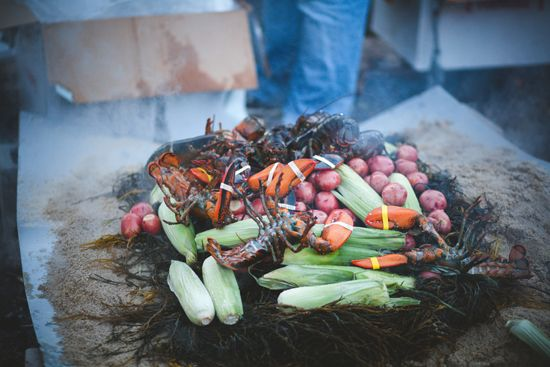Lobster Bake Party via Somewhere Splendid. Photography from Sala Photography.