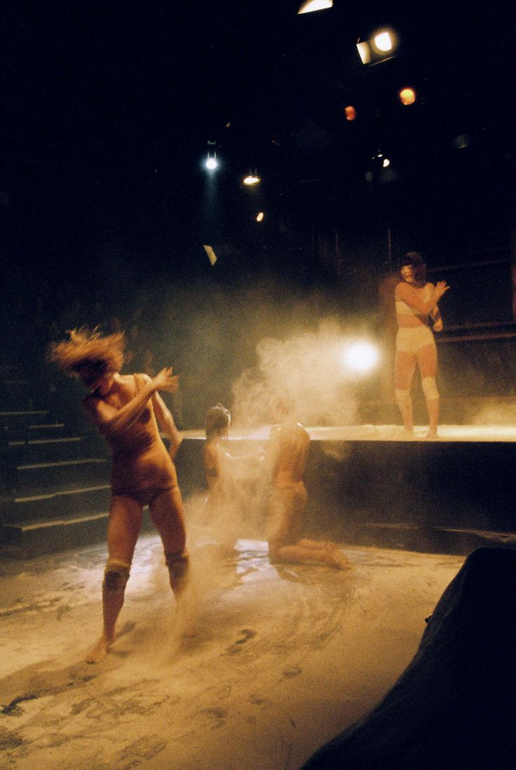 RISE. Flour Play. Dancers: Anne Brashier, Alana Sargent, Natalie Hona, Will Barling Photographer: Derek Simpson