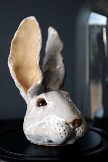 clay. rabbit head. Wabbit Ed---By Rory Dobner
