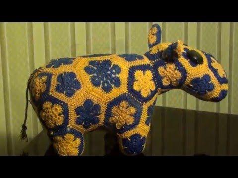Вязаный бегемот/Knitted hippo ( English subtitles ) - YouTube