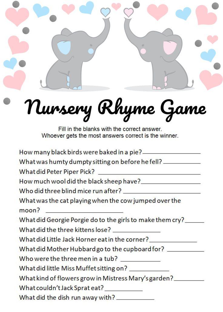 Baby Elephant Nursery Rhyme Gamebaby elephant game