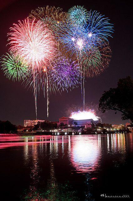 4th of July fireworks in Philadelphia