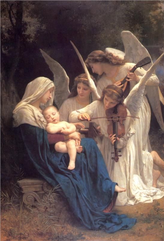 Song of the Angels by William-Adolphe Bouguereau...I hate that my humanities professor explained so eloquently how to determine Renaissance art... Every time I see a piece now I mentally do it... I won't ruin it for anyone by saying it... TRUST!!!! <3