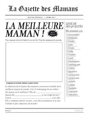 Jeux pour la fête des mères - La Gazette des Mamans - Momes.net