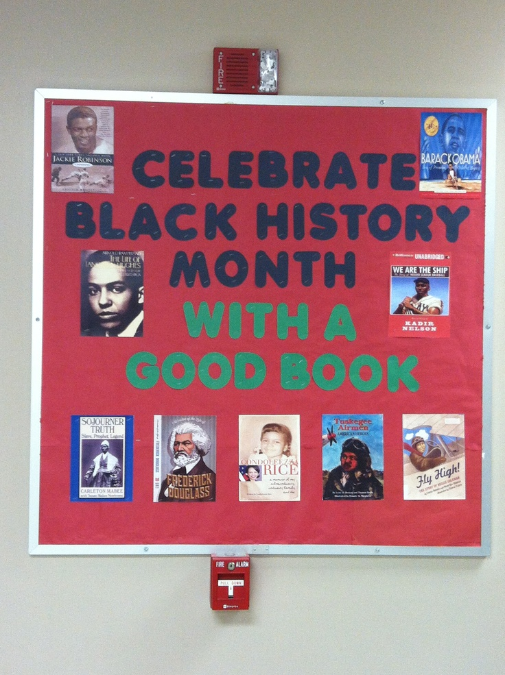 Black History Month Bulletin Board. I just came up with some good topics and printed out the book covers. It turned out really well.