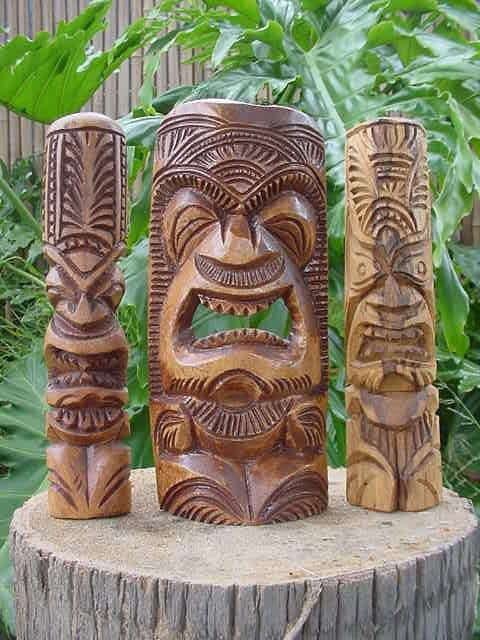 tiki | ... Tiki Statues-Polynesian wood carvings of Tongan styled tikis from