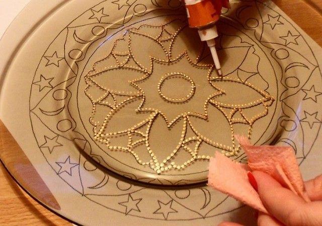 (99) Одноклассники - Общие рекомендации по использованию контуров по стеклу и керамике.
