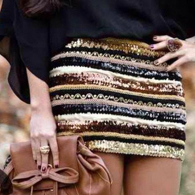 falda lentejuelas.