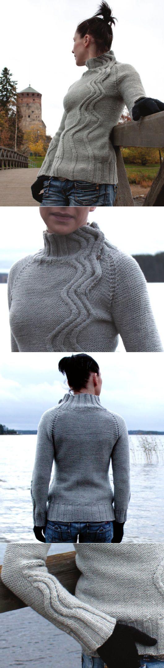 Красивый женский свитер спицами | ДОМОСЕДКА