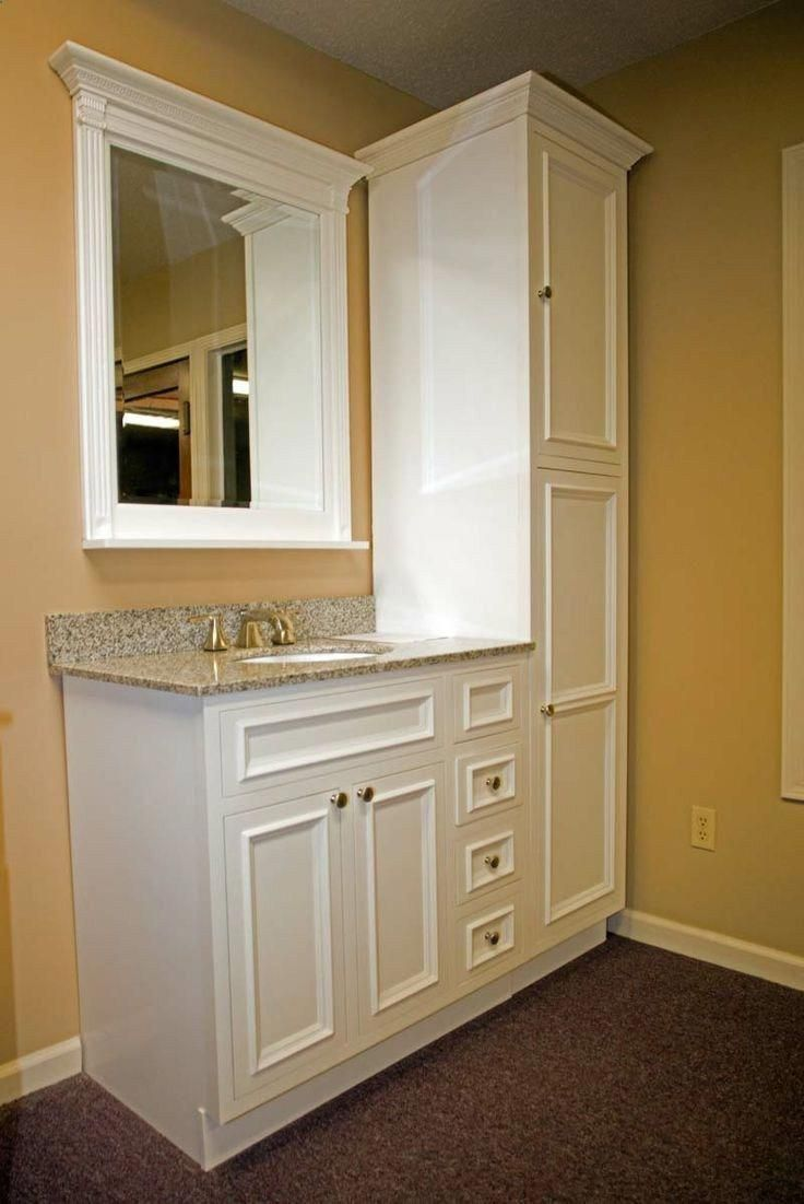 Small cabinet and vanity #ideasforbathroomremodel   – ideas for bathroom remodel
