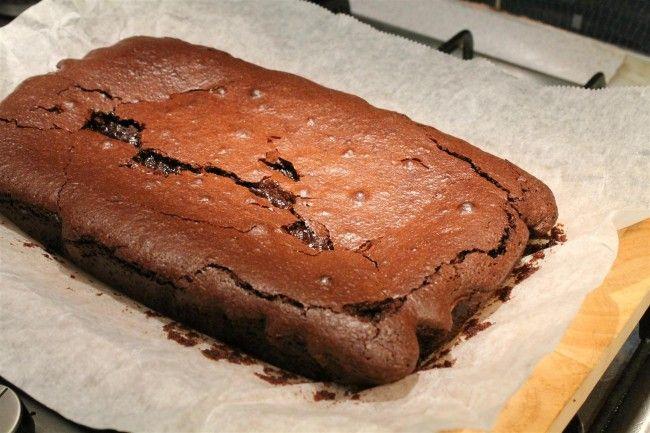 Frissen sült csokis brownie