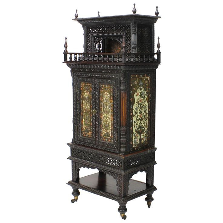 Rare and Important Anglo Indian Cabinet with Makers Brass Plaque | From a unique collection of antique and modern cabinets at http://www.1stdibs.com/furniture/storage-case-pieces/cabinets/