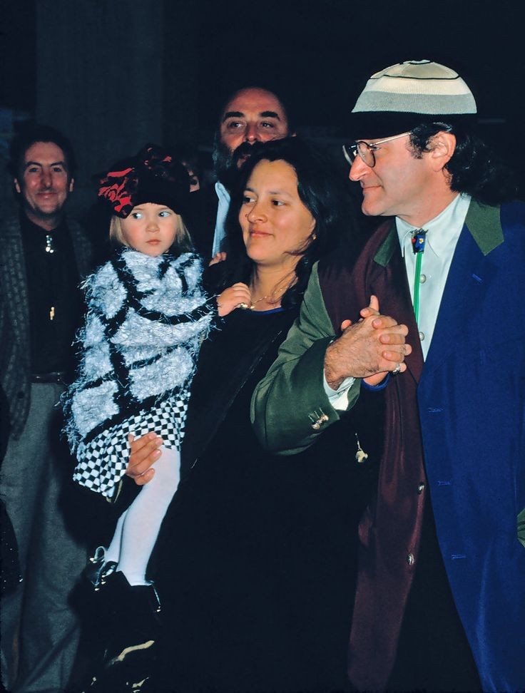 The following are classic (stock) images of Robin Williams with his second wife Marsha Garces Williams. .Images Circa: 1991 (attending the 'Hook' premiere with Marsha Garces Williams and daughter, Zelda Rae [b.