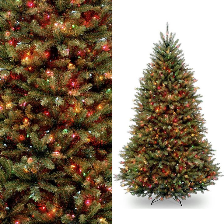 7.5ft PreLit Artificial Christmas Tree 750 Multi Color Clear Lights and Stand #MassMarket