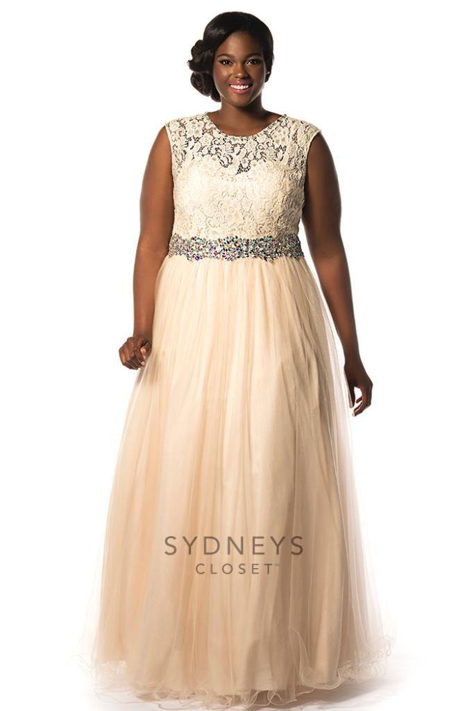 Super plus size evening dress