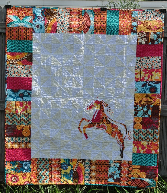 Finished Swoon Horse Quilt by Bree@DistantPickles, via Flickr