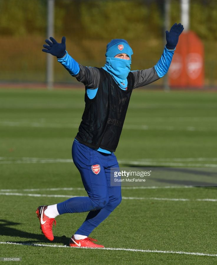 Jack Wilshere of Arsenal during a training session at London Colney on December 1, 2017 in St Albans, England. (Photo by Stuart MacFarlane/Arsenal FC via Getty Images)