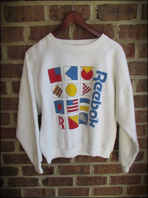 Vintage 80's Reebok Crewneck Sweatshirt by RackRaidersVintage, $23.00