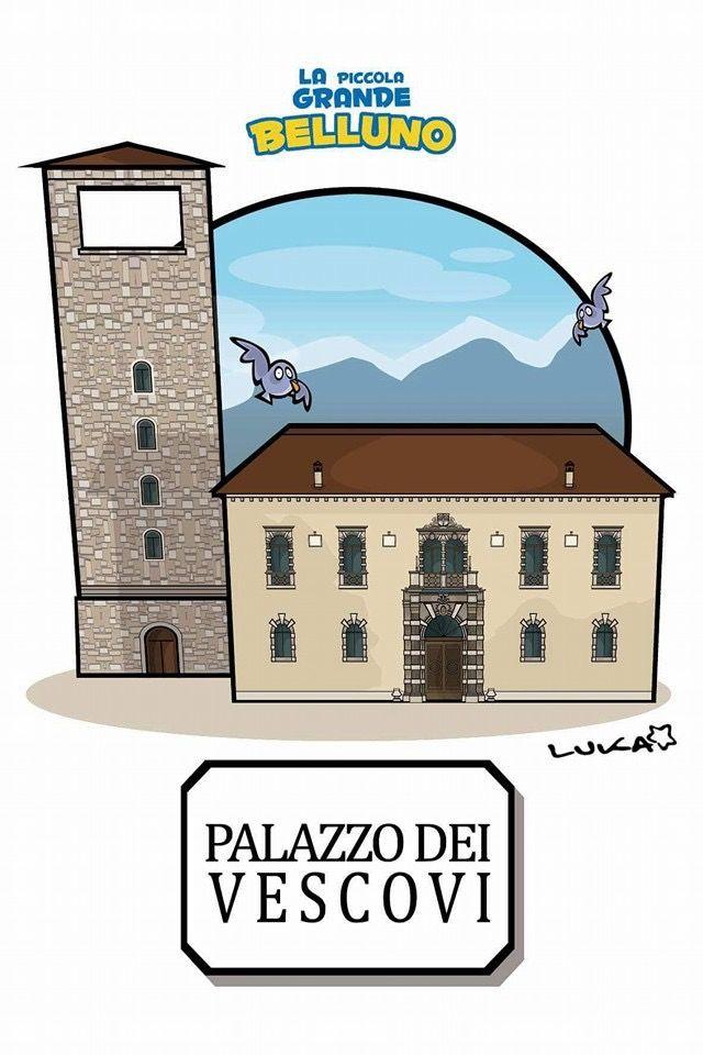 Palazzo dei Vescovi Belluno Dolomiti Veneto Italia by Luca Stella